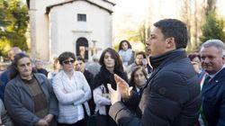 Renzi a Preci distrutta dal