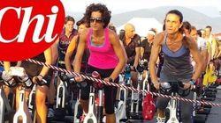 Agnese Renzi in versione biker a