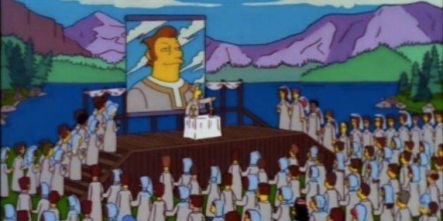 Quell'episodio dei Simpson sull'arrivo del Leader in città mi ha ricordato