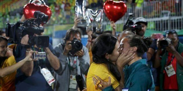 Olimpiadi Rio 2016, Isabella Cerullo riceve la proposta di matrimonio dalla compagna Marjorie