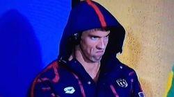 Questa foto mostra la tattica di Michael Phelps per intimorire gli