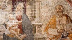 Trapana il muro divisorio e danneggia l'affresco del '500 di una Basilica di