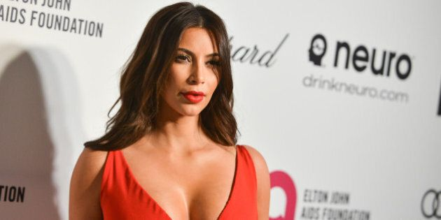 Kim Kardashian arrives at 2014 Elton John Oscar Viewing and After Party Mar. 2, 2014 in West Hollywood,...