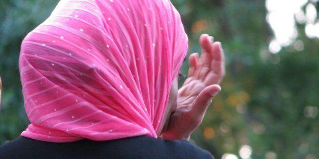 Close-up of muslim lady at