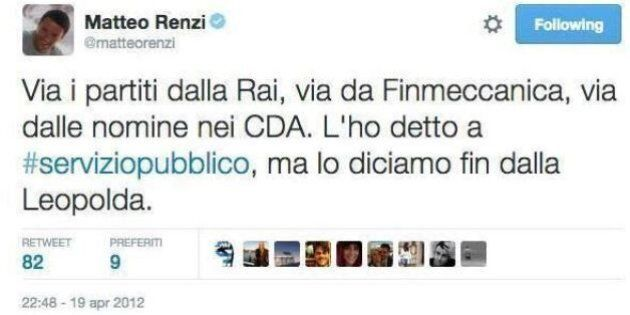 Quando Matteo Renzi prometteva sulla Rai: