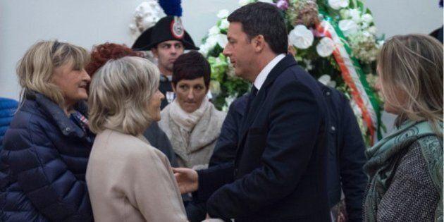 Matteo Renzi alla camera ardente di Tina Anselmi a Castelfranco Veneto per rendere omaggio alla prima...