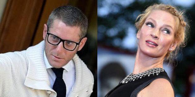 Lapo Elkann a Cannes sorprende Uma Thurman con un bacio