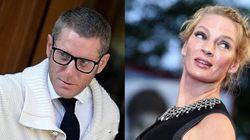 Lapo a Cannes sorprende Uma con un bacio