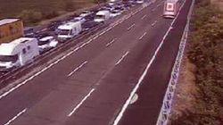 Chiusa l'A1 tra Piacenza e