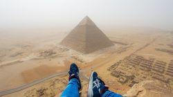 Le Piramidi come non le avete mai viste: la ripresa in soggettiva di un