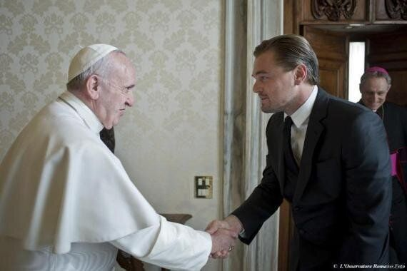 Papa Francesco riceve Leonardo DiCaprio per discutere dei problemi