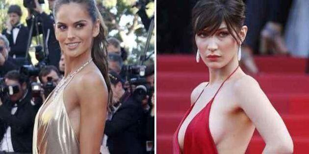 Izabel Goularz sfida l'abito rosso fuoco di Bella Hadid sul red carpet di