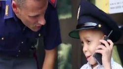 Il sogno di Julio, il piccolo malato di neuroblastoma, si realizza: poliziotto per un