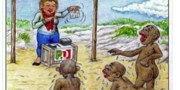 M5s Carate Brianza: polemica sulla vignetta che rappresenta i migranti come