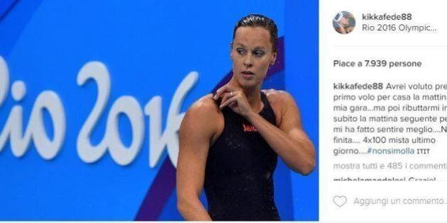 Federica Pellegrini gareggia ancora alle Olimpiadi: