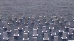 Un cimitero galleggiante per ricordare i 4000 siriani morti in