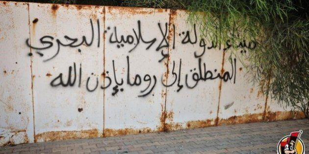 Scritte Isis sui muri di Sirte. Minacce all'Italia.