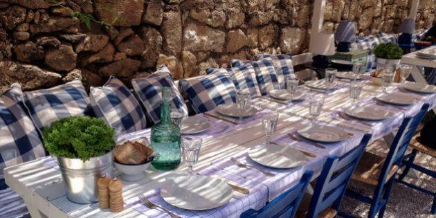 Ritratto italiano di un pranzo di