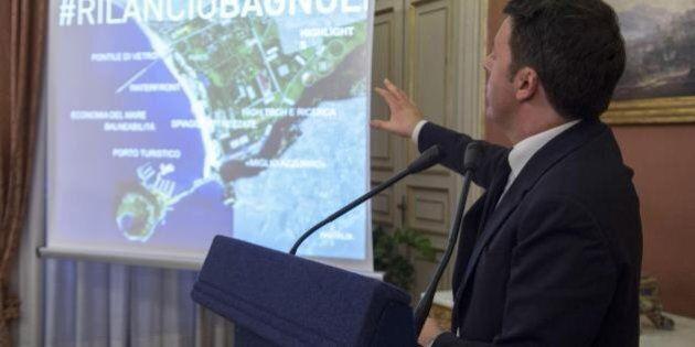 Bagnoli, Matteo Renzi firma la bonifica e polemizza con Luigi de Magistris: