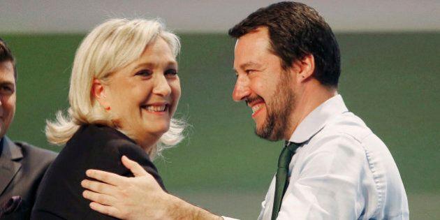 Matteo Salvini e Marine Le Pen si incontrano contro Schengen. Fuori le