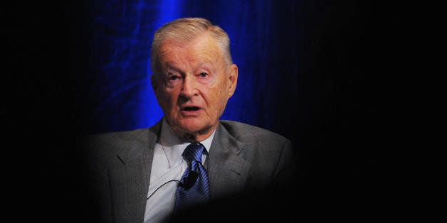 Former US national security advisor Zbigniew Brzezinski speaks during a forum on US and Saudi relations April 27, 2009 at a h