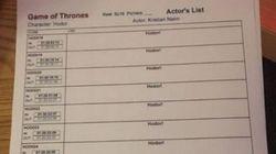 L'attore di Hodor in Game Of Thrones pubblica la foto del suo copione. E fa impazzire i