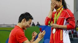Rio 2016, dopo l'argento per il trampolino He Zi riceve proposta di matrimonio in mondovisione