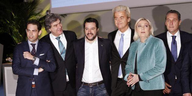 Salvini, Le Pen e gli altri euroscettici si incontrano a Milano.