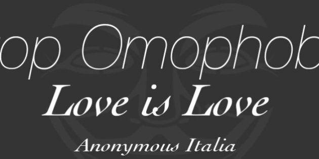 Anonymous hackera il sito del Family Day: