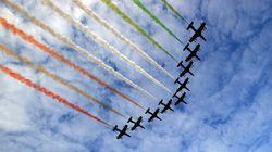 Le Frecce Tricolori volano su Roma per le celebrazioni dell'Unità