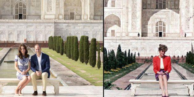 William e Kate al Taj Mahal, foto sulla panchina della solitudine di Lady