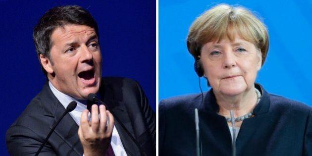 Matteo Renzi segue Donald Trump nell'attacco alla Germania di Angela Merkel sul surplus