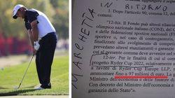 Il Pd ci riprova: rispuntano i 97 milioni per la Ryder Cup di golf (nel decreto