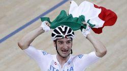 Rialzarsi dopo una caduta alla Olimpiadi di Rio questo è Elia Viviani oro nella specialità
