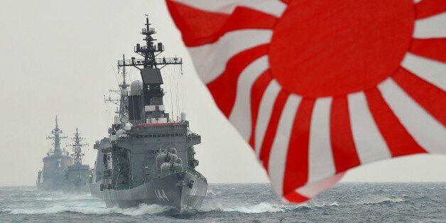 Japan Maritime Self-Defence Force escort ship Kurama sails during a 2009 fleet review in Sagami Bay, Japan's Kanagawa prefect