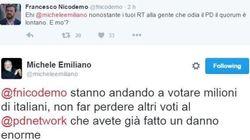 Nicodemo vs Emiliano: il Pd si azzuffa su Twitter per il