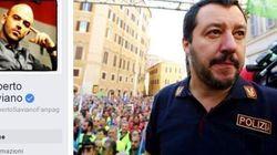 Saviano contro Salvini in divisa: commette reato e insinua un sostegno politico alla