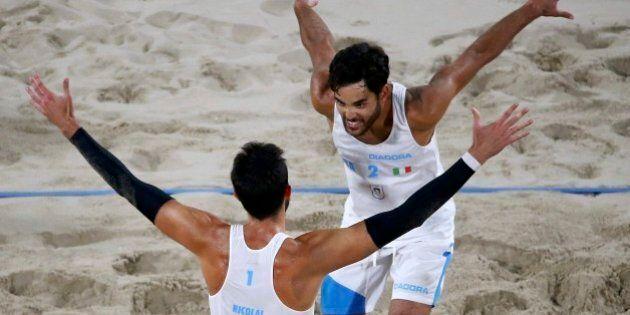 Beach volley, Nicolai e Lupo in finale contro il Brasile, medaglia sicura.