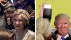 Trump e Clinton nei seggi. Fischi per il tycoon, sorrisi per l'ex first lady