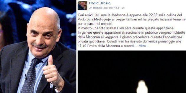 Paolo Brosio pubblica la foto della Madonna su Facebook: