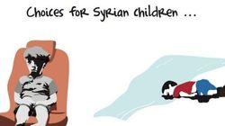 Questa vignetta racconta tutto il dramma dei bambini