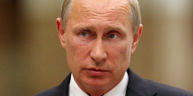 MINSK, BELARUS - AUGUST 27:  Russian President Vladimir Putin speaks at a news conference August 26, 2014 in Minsk, Belarus.