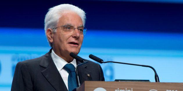 Il capo dello Stato Sergio Mattarella al Meeting di Rimini: