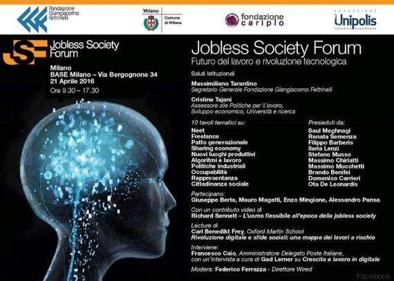 Jobless society forum, a Milano un confronto internazionale sul futuro del lavoro e la rivoluzione