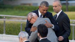 Obama abbraccia commosso gli Hibakusha, i sopravvissuti di