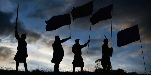 LOCH LOMOND, SCOTLAND - SEPTEMBER 14:  Duncan Thomson, Brian McCutcheon, John Patterson and Arthur Murdoch,from King of Scots