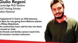 Trovato morto in un fosso Giulio Regeni, lo studente scomparso al