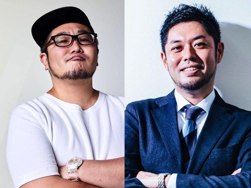 三浦崇宏さん(左)、竹下隆一郎(右)