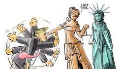 Questa vignetta sull'epilogo del Travel Ban ha fatto impazzire