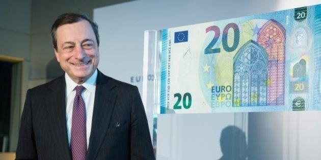 Mario Draghi difende l'euro dagli attacchi di Donald Trump e Marie Le Pen: